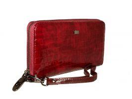 Кожаный женский клатч-кошелек Hassion 16-3126 Dark red