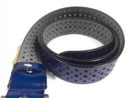 Синий ремень женский кожаный P 094-3 5bl_1