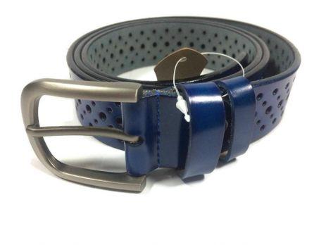 Синий ремень женский кожаный P 094-3 5bl