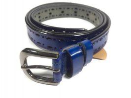 Ремень женский кожаный синий P 072-2 5 bl_2