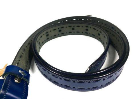 Ремень женский кожаный синий P 072-2 5 bl