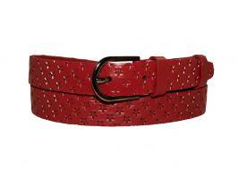 Кожаный женский красный ремень AWL-3004r