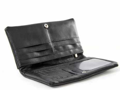 Клатч мужской кожаный NN 110 black