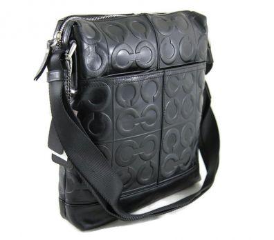 Мужская кожаная сумка Coach D2115-1-77 Black