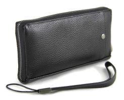 Клатч мужской кожаный AJ 66229 Black_1