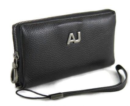 Клатч мужской кожаный AJ 66229 Black