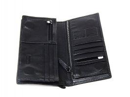 Кожаный клатч Hassion H-061 black_3