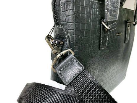 Сумка деловая кожаная Montblanc 109-6623-4 black