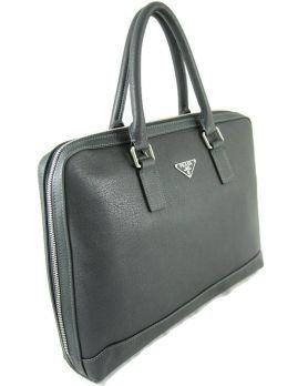 Портфель-сумка из кожи Prada 124-6636-1 Black