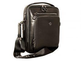 Мужская кожаная сумка через плечо H-T 3492 black