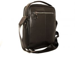 Мужская кожаная сумка через плечо H-T 3492 black_1