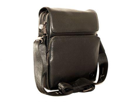 Кожаная мужская сумка H.T 5297 black