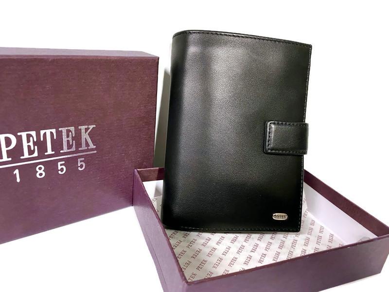Портмоне мужское кожаное Petek 1758 Black