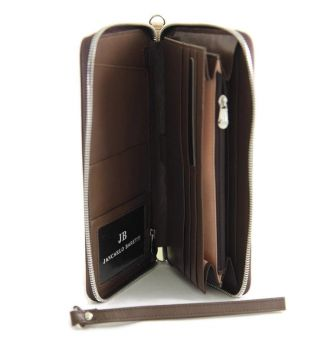 Мужской кожаный клатч Jancarlo Baretti 8854 brown