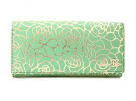 Кошелёк женский кожаный Chanel (Шанель) 1814-11 Green