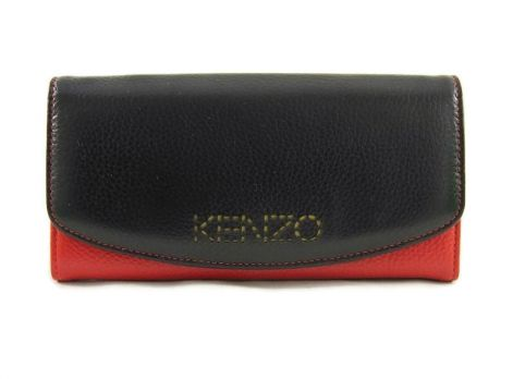 Кошелек женский кожаный Kenzo (Кензо) 5890 black