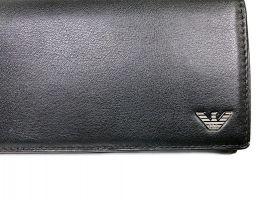 Кошелек женский кожаный Armani GA-381 Black_3