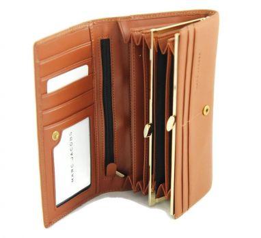 Кошелек женский кожаный Marc Jacobs 1106 Z brown
