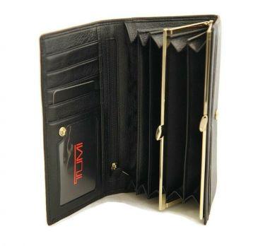 Кошелек женский кожаный Tumi (Туми) 1058 black