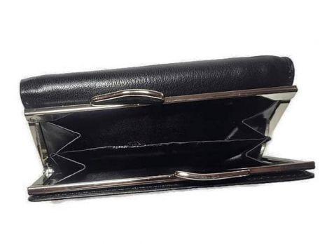 Кошелек кожаный женский Giorgio Armani GA-382 Black