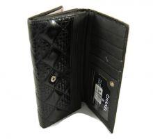 Кожаный кошелек женский CHANEL 1799-12 Чёрный_1