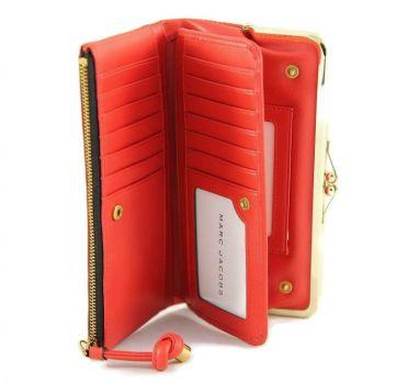 Кошелёк женский кожаный Marc Jacobs 1104 E red