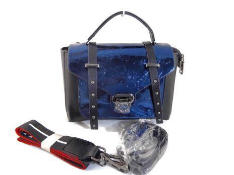 Женская кожаная сумка через плечо APPLAUD 9902 BLUE