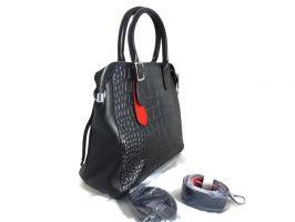 Женская кожаная сумка под рептилию Applaud 2101 black_1