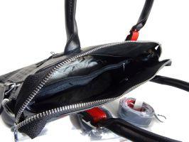 Женская кожаная сумка под рептилию Applaud 2101 black_2