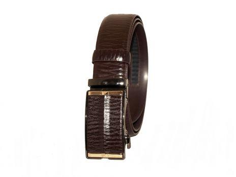 Кожаный коричневый ремень автомат 200-87br