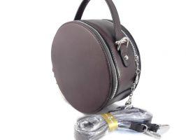 Женская сумка кругляш Queen coffee_1