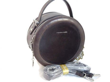 Женская сумка кругляш Queen coffee