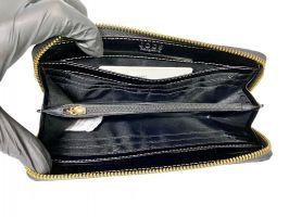 Кожаный женский клатч-кошелек JCCS 3052 black с визитницей_4