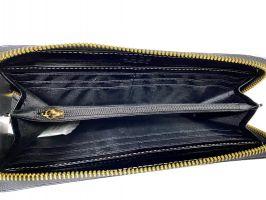 Кожаный женский клатч-кошелек JCCS 3052 black с визитницей_3