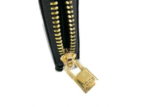 Кожаный женский клатч-кошелек JCCS 3052 black с визитницей