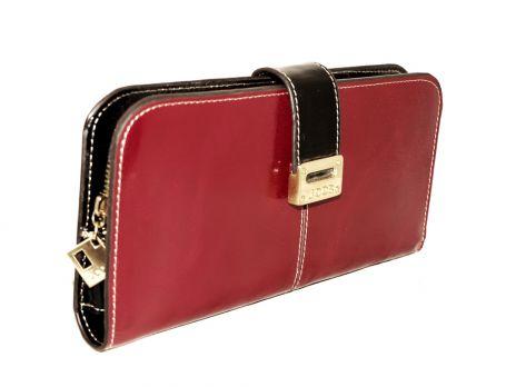 Кожаный женский кошелек JCCS 7031A red