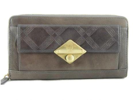 Женский кошелек на молнии Versace V-30105 N Gray