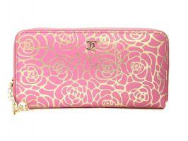 Женский кошелек на молнии Chanel (Шанель) 1814-13 Rose_0