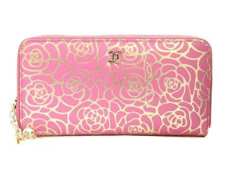 Женский кошелек на молнии Chanel (Шанель) 1814-13 Rose