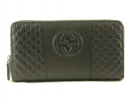 Клатч кожаный Gucci 5814 black