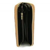Кожаный женский кошелёк на молнии Prada 27-025 Coffee_1