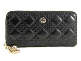 Кожаный женский кошелек на молнии CHANEL 1799-13 Black_0