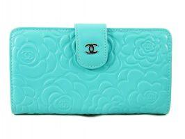 Женский кожаный кошелёк Chanel (Шанель) C0299 Green