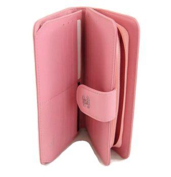 Женский кожаный кошелёк Chanel (Шанель) C0299 Pink