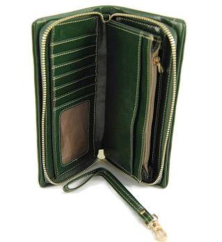 Клатч кожаный LasFero 8192-175 Dark green