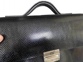 Мужской кожаный портфель MontBlanc (Монблан) L1090-5 3980 Black_2