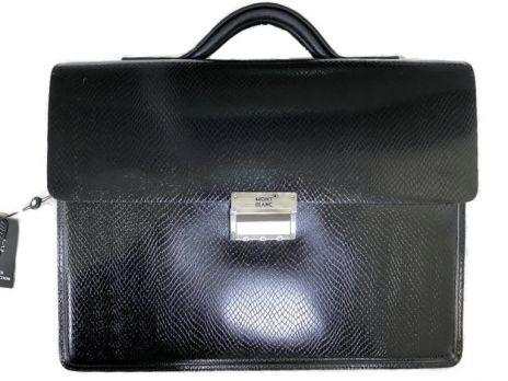 Мужской кожаный портфель MontBlanc (Монблан) L1090-5 3980 Black