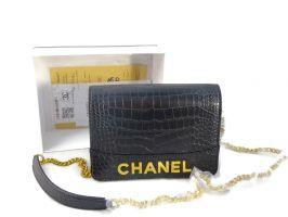 Женская сумочка на плечо Chanel (шанель) 8017 Black_0