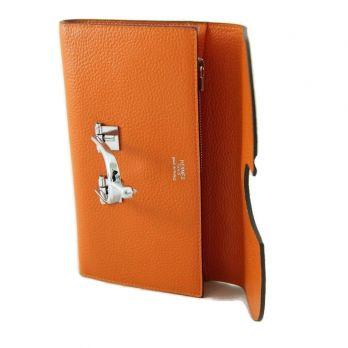 Женский кожаный кошелёк Hermes (Эрмес) 569 Orange