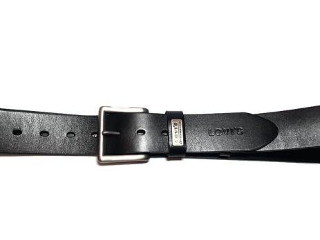 Кожаный ремень Levis Black (левис)